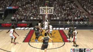 NBA Live 2004 Miami Heat Vs Minnesota Q1