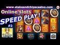 Online Slots Session - SPEED PLAY #2 🚨 CASINO BONUS & WINS