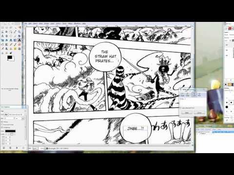 Tutorial: Basics to Typesetting Manga [GIMP]