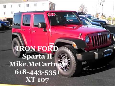 used red 2012 jeep wrangler unlimited for sale iron ford sparta il youtube. Black Bedroom Furniture Sets. Home Design Ideas