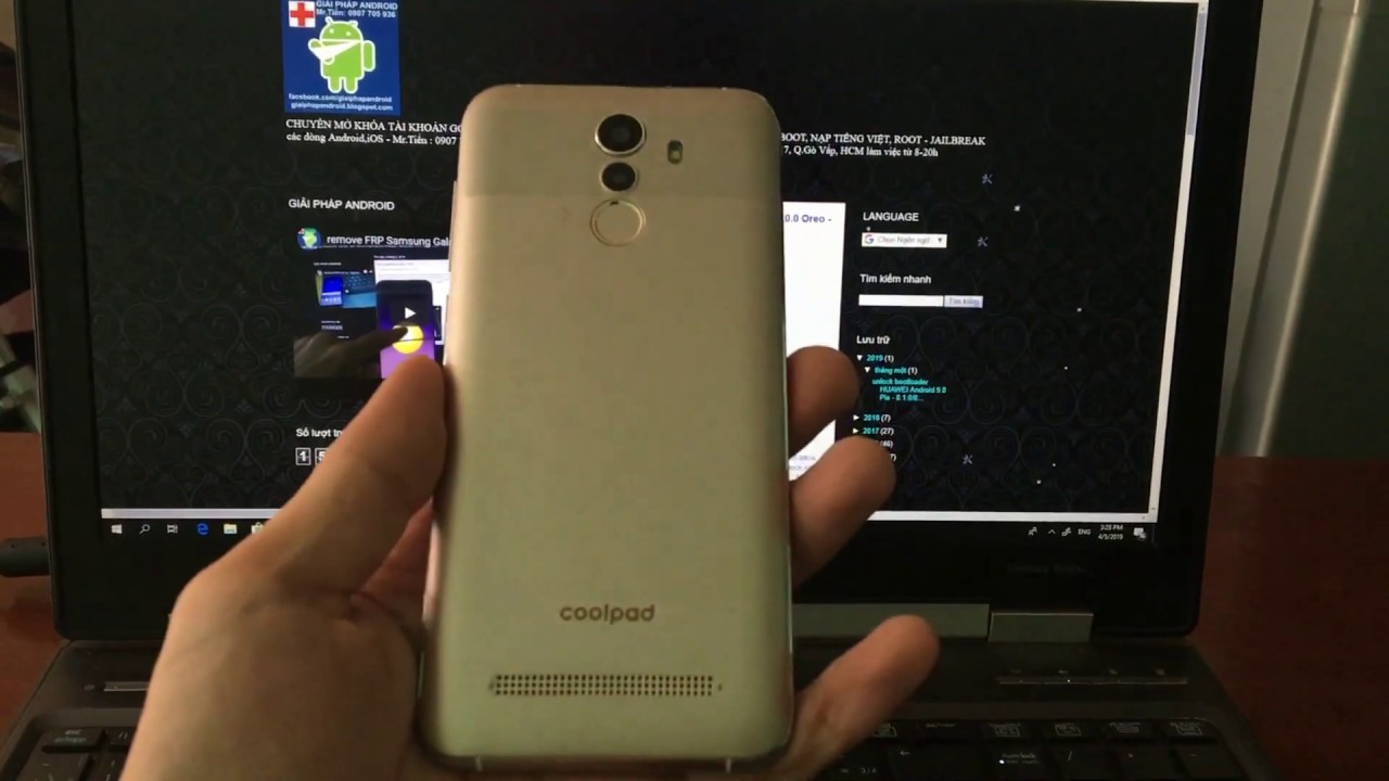 remove FRP Coolpad N3D 1821 Android 8 1 0 Oreo