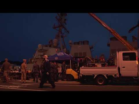 USS Fitzgerald (DDG 62) Yokosuka Arrival After Collision At Sea