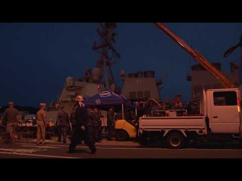 USS Fitzgerald (DDG 62) Yokosuka Arrival After Collision At Sea