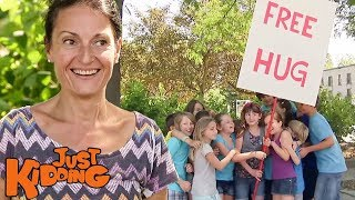 Adults Tricked Into Giving Free Hugs