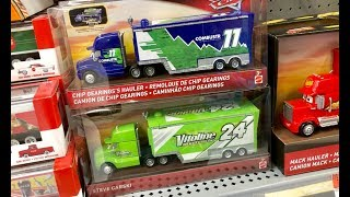 New Disney Cars Toy Hunt - Chip Gearingy's Hauler - Combustr Hauler - Special Giveaway News In Video