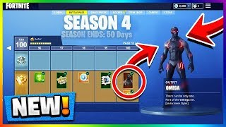 SEASON 4 BATTLE PASS TIER 100 UNLOCKED! All Fortnite Skins Update