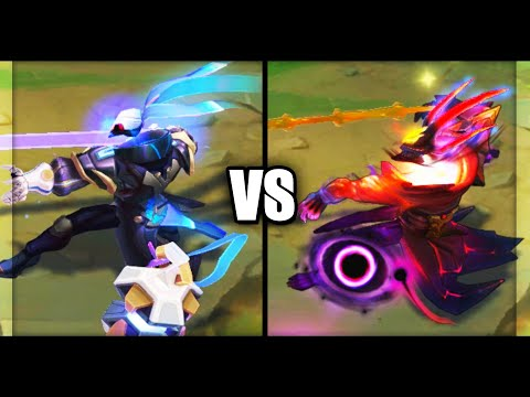 Pulsefire Thresh vs Dark Star Thresh Legendary vs Epic Skins Comparison (League of Legends)