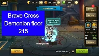 Brave Cross - Demonion floor 215