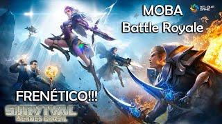 Survival Heroes Brasil - O Battle Royale MOBA Brasileiro!