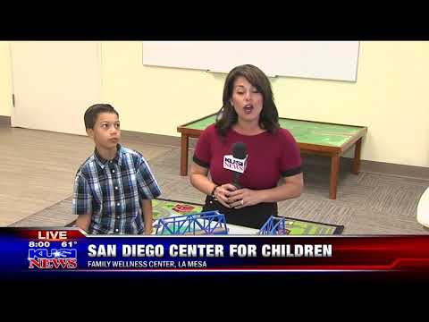 KUSI features the San Diego Center for Children's Family Wellness Center in La Mesa Part 3