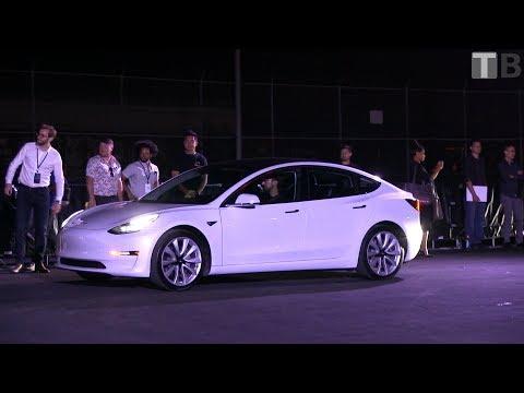 Tesla Model 3 delivery external shots