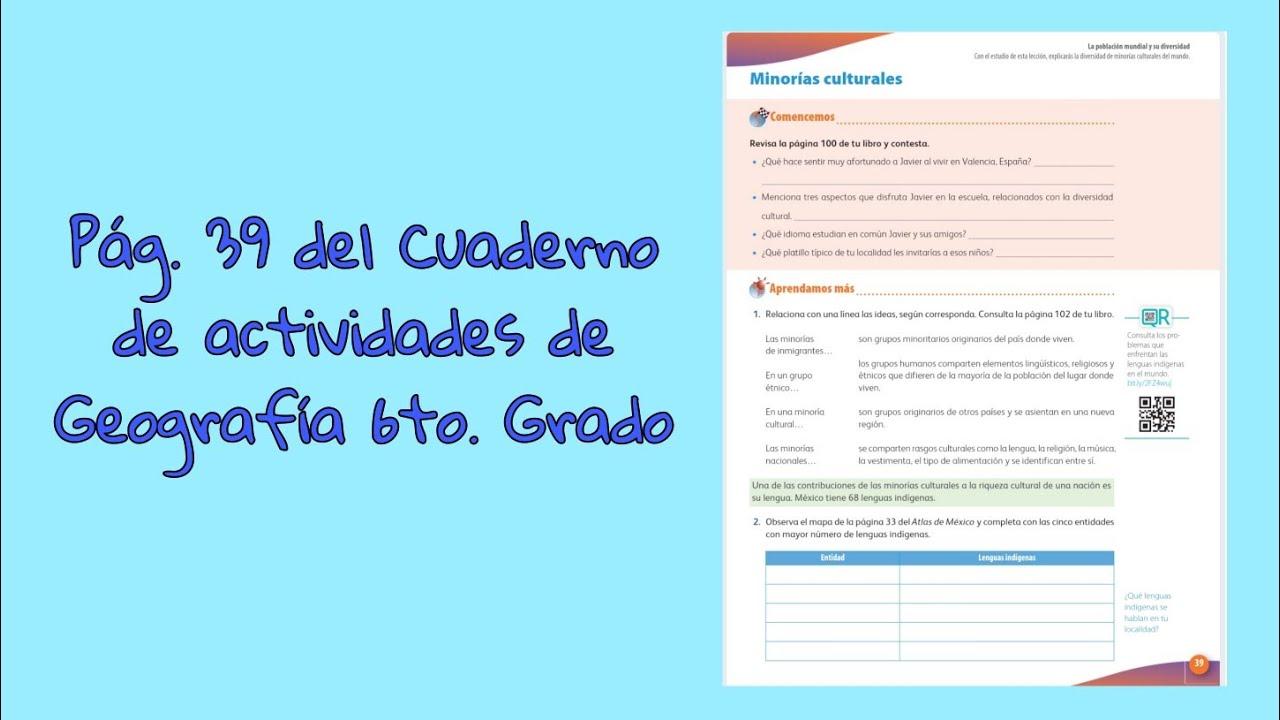Colegio atlas mexico somos una institución de educación preescolar en el area de general escobedo, nuevo leon. Pag 39 Del Cuaderno De Actividades De Geografia Sexto Grado Youtube