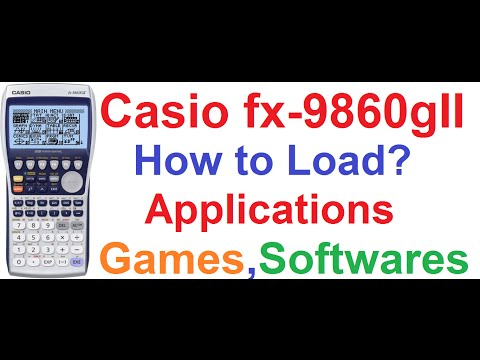 Casio fx-9860gII Graphing Calculator #3: How To Load Games,Applications,Softwares from Computer