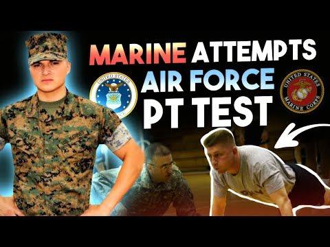 United States Marine Attempts USAF PT test