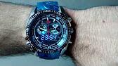 be98c5da7c9 Relógio TVG Masculino Importado Barato LED Aço Inox Luxo Esportes ...