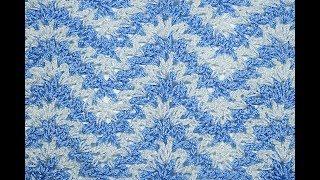 Crochet V-shaped zigzag stitch #crochet #crochetstitch