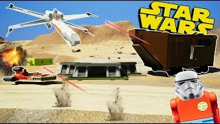 LEGO STAR WARS BATTLES & FUNNY MOMENTS! - Brick Rigs Gameplay Challenge & Creations