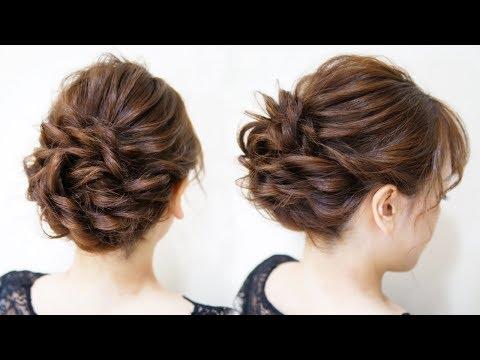 ☆かわいいシニヨンヘアアレンジ!ベース巻き無し!ロープ編み3本でできます!-hair-styling-hair-arrangement-头发-헤어easy-updo-hairstyle