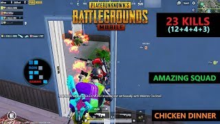 "[Hindi] PUBG MOBILE | ""23 KILLS"" AMAZING SQUAD FUN GAME PLAY & CHICKEN DINNER"