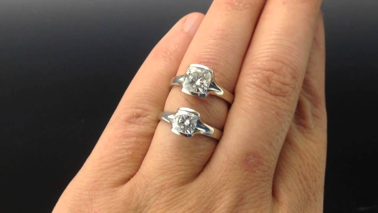 6mm Forever Brilliant Vs 7mm Forever Classic Moissanite