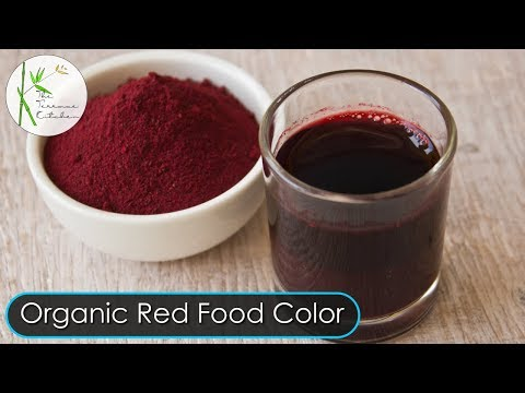 100% Natural Homemade Red Food Color Recipe | For Restaurant ...
