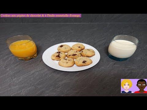 cookies-aux-pépites-de-chocolat-&-à-l'huile-essentielle-d'orange