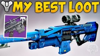 Destiny: MY BEST LOOT DROPS! God Roll Snipers, Crucible Packages, Vanguard & Factions (Rise of Iron)