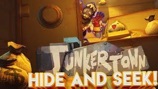 OVERWATCH JUNKERTOWN HIDE AND SEEK CUSTOM GAMEMODE! (BRAND NEW MAP)