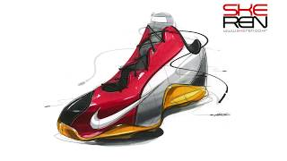 Shoes Sketch & Design(Basketball shoes)