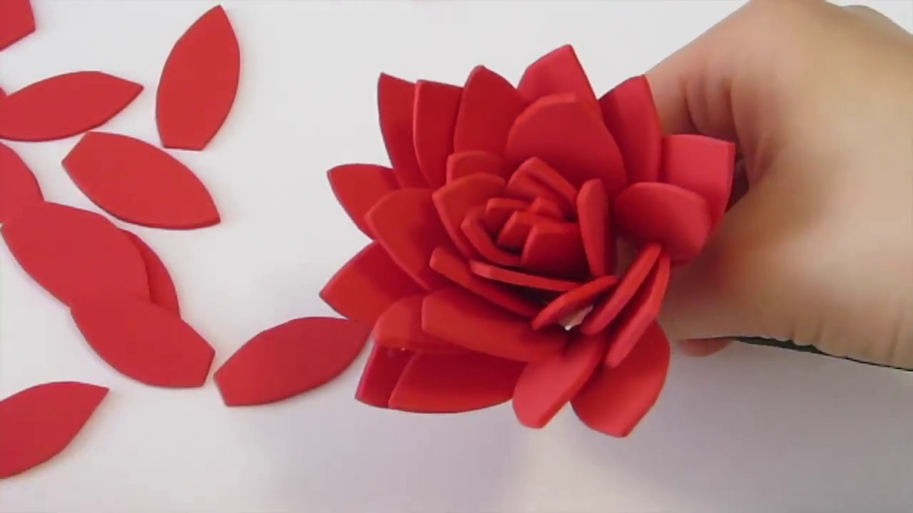 How to make dahlia flower using foam paper youtube how to make dahlia flower using foam paper mightylinksfo