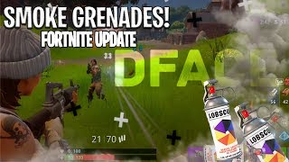 SMOKE GRENADE UPDATE PATCH NOTES FULL REVIEW [ FORTNITE BATTLE ROYALE]