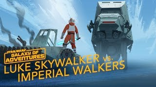 Luke vs. Imperial Walkers - Commander on Hoth | Star Wars Galaxy of Adventures
