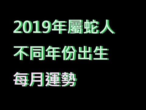 ☯️2019年屬蛇人不同年份出生的🐍全年運勢大全[2019年🐍每月運勢][純文字]