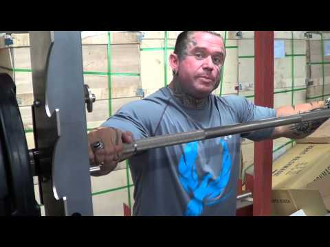 Lee Priest does Smith Squats on Barbarian Machine