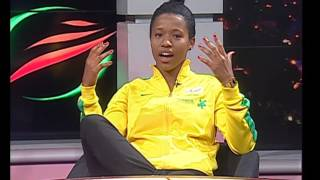 Thomas Mlambo interviews footballers Jermaine Seoposenwe and Nomathemba Ntsibande