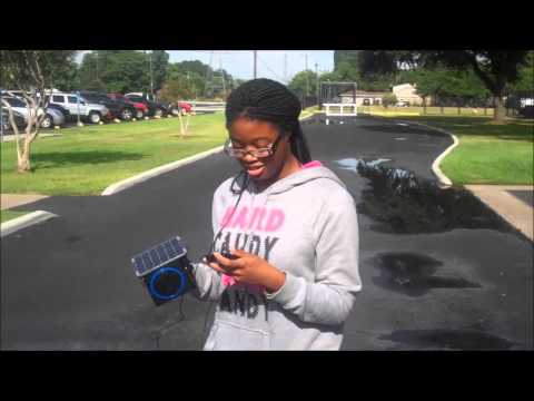 Deja completed her project Solar Powered MP3!