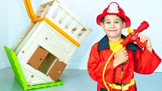 Rescue toy house of Princess.