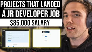 REAL Projects that landed a Jr. Developer job ($85,000 Salary) | #grindreel