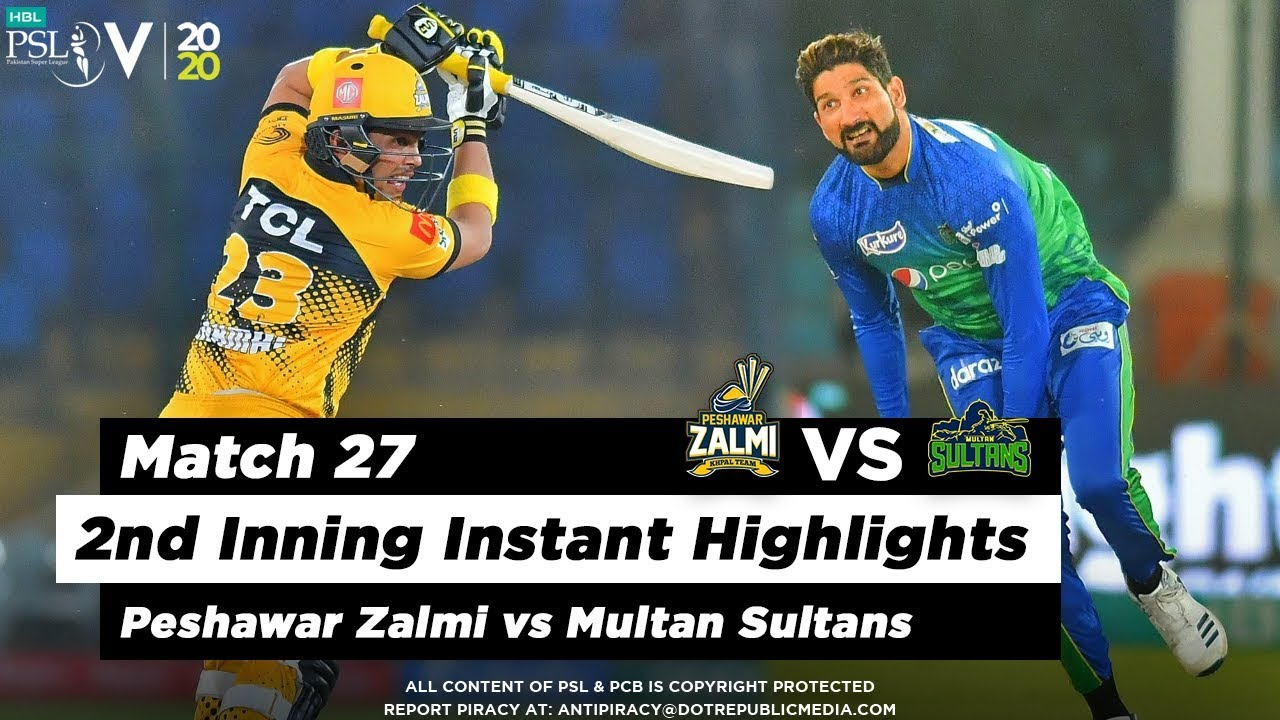 Peshawar Zalmi vs Multan Sultans | 2nd Inning Highlights | Match 27 | 13 March | HBL PSL 2020
