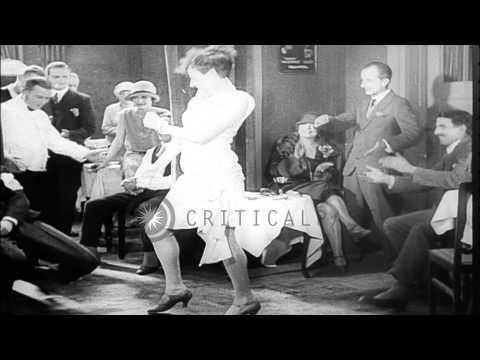 """Scenes of the """"Roaring 20s"""" or the """"Jazz Age"""" in Berlin Germany HD Stock Footage"""
