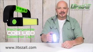 22156 - LitezAll Rechargeable COB LED Carabiner Light
