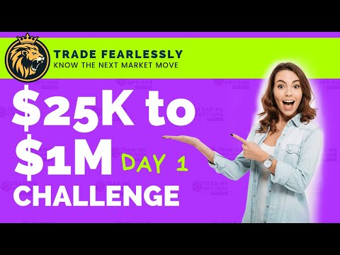 25k to 1 million Trading Options LIVE Challenge DAY 1 MARKETS TODAY