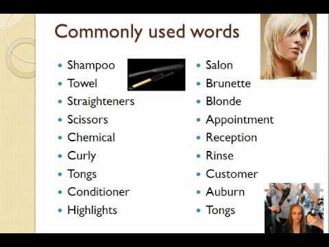 Hairdressing Vocabulary