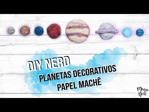 DIY NERD// Planetas decorativos de Papel Machê - Papier mâché // Magia Nerd