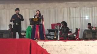 Mohammed Aslam & Merina Sumesh singing Aaja Aaja @ Kozhikkode