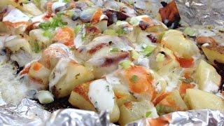 Buffalo Ranch Packet Potatoes - Summertime Grilled Potato Recipe