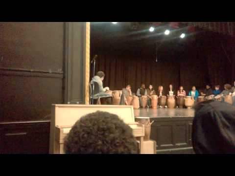 Awesomesome drumming performance at Ockley Green Middle School part 1