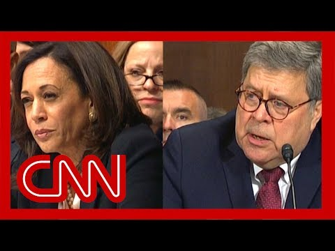 William Barr stumped by Kamala Harris' question