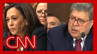 William Barr stumped by Kamala Harris