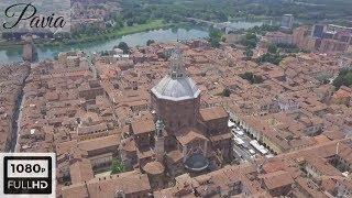Pavia drone tour | Duomo - Castello - Ponte Vecchio - Borgo Ticino HD